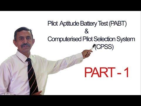 Concept of PABT/CPSS (Part-1) || Pilot Aptitude Battery Test || Computerized Pilot Selection System