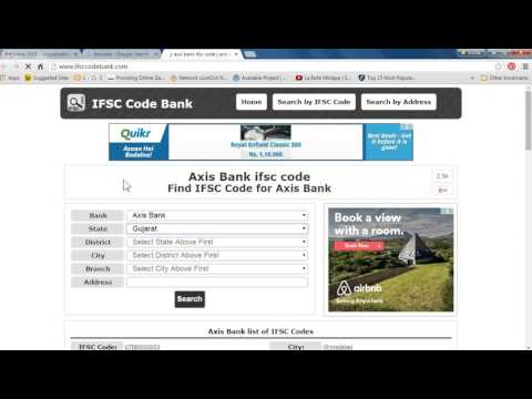 Find Axis IFSC Code In 1 Minutes