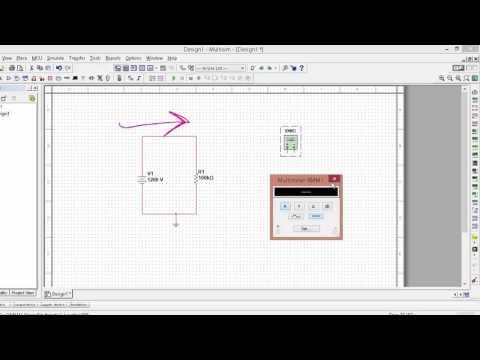 measuring voltage, current and resistance using multisim