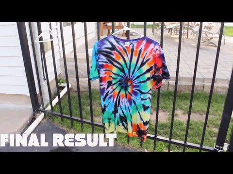 How To Make a Black Spiral Tie Dye T-shirt