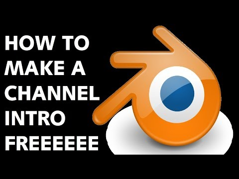 How to make channel intro with blender | Blender tutorial | make free cool intro