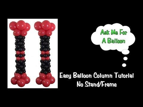 Easy Balloon Column Tutorial - No Stand/Frame