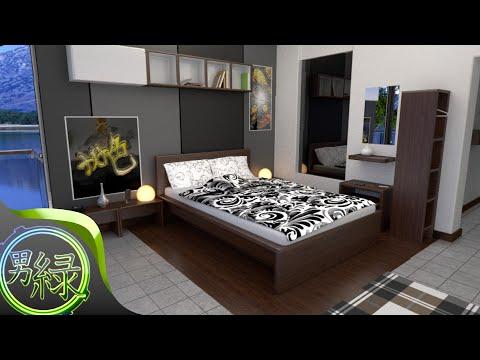 (CG Art timelapse) Modern Bedroom (Blender 2.71)
