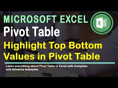 Learn how to Highlight Top Values in Pivot Tables in Excel