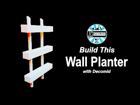 Easy Wall Planter Build - Decomid Woodworking #7