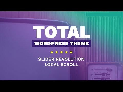 Slider Revolution Local Scroll Links & Total WordPress Theme