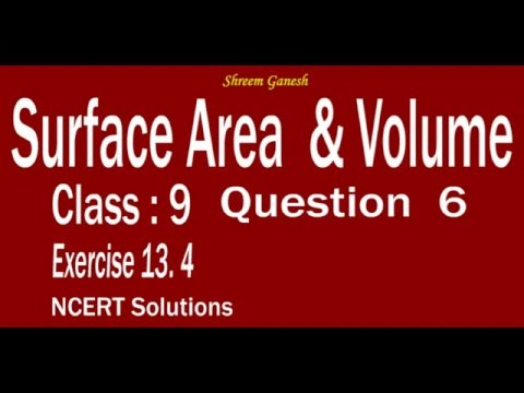 Surface Area & Volume  Sphere class 9 NCERT Solutions Exercise 13.4 Problem 06 Mathematics CBSE CCE