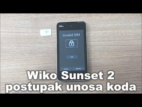 Wiko Sunset 2 dekodiranje pomoću koda