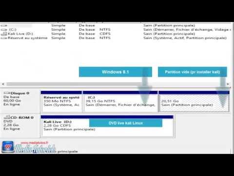 Installation kali linux (dual boot kali windows 8.1 )