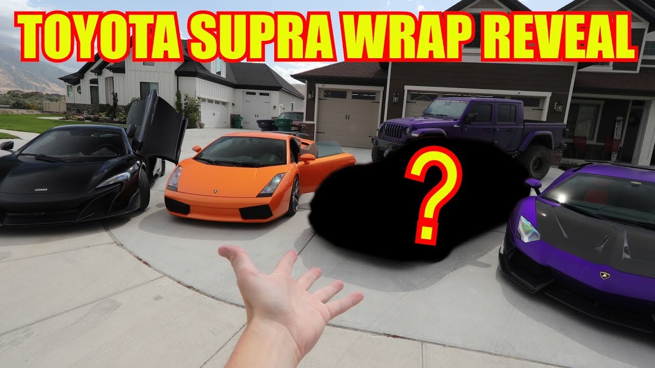 FULL REVEAL of my NEW TOYOTA SUPRA WRAP!