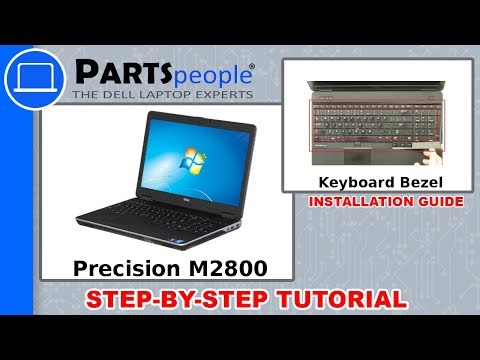 Dell Precision M2800 (P29F001) Keyboard Bezel How-To Video Tutorials