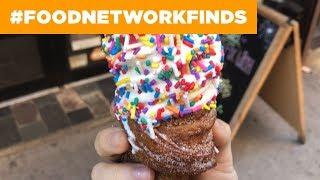 Churro Ice Cream Cones at ChikaLicious | Food Network