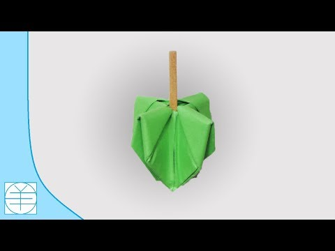Origami Spinning Top. (Instructions) (HD)