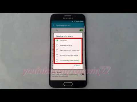 Android Lollipop : How to change Simulate color space option in Samsung Galaxy S6
