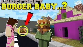 Minecraft: WEIRDEST MAP EVER!!! - THE BURGER HAD A BABY?!? -  - Custom Map