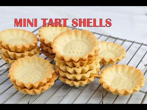HOW TO MAKE MINI  TART SHELLS, HANIELA'S