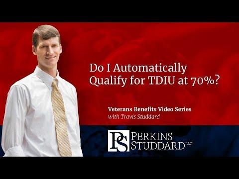 Do I Automatically Qualify for TDIU at 70%?