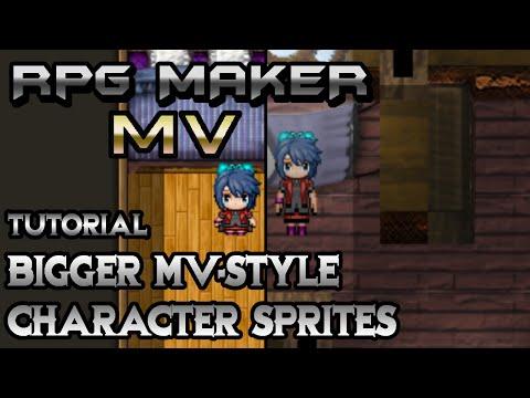 RPG Maker MV Tutorial: Bigger MV-Styled Character Sprites!