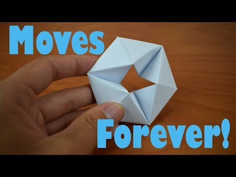 How to fold an Origami Moving Flexagon - Better than a fidget spinner!