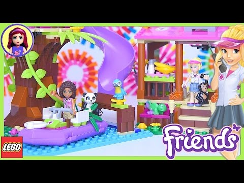 LEGO Friends Jungle Rescue Base Building Set Part 1 Build Review Silly Play - Kids Toys