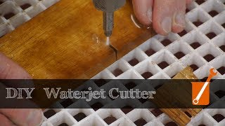 Waterjet cutter built with a cheap pressure washer
