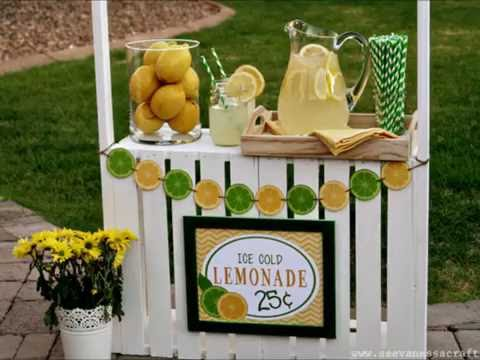 Instructions on How to Build a Lemonade Stand