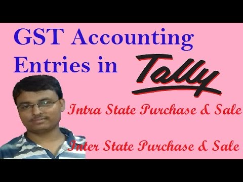 GST Accounting Entries - Intra & Inter State Purchase and Sales Entries In Tally In Hind | GST Video