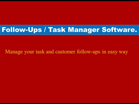 Follow up / Task Manager Software