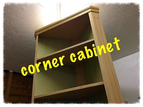 Building a corner cabinet.