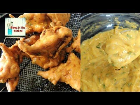 Pakora Recipe - Crispy Pakora With Tips by (HUMA IN THE KITCHEN)