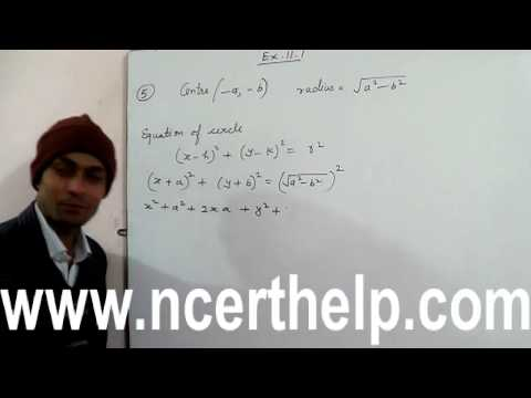 how to find equation of a circle with center and radius