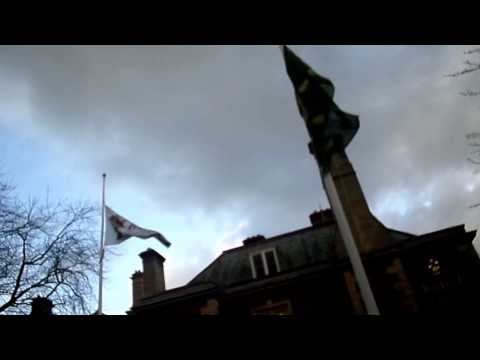 Flags Fly Half Mast In Memory of Council Leader Roger Begy