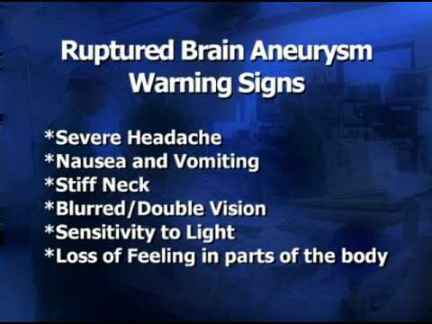 What Are The Warning Signs and Symptoms of a Ruptured Brain Aneurysm?