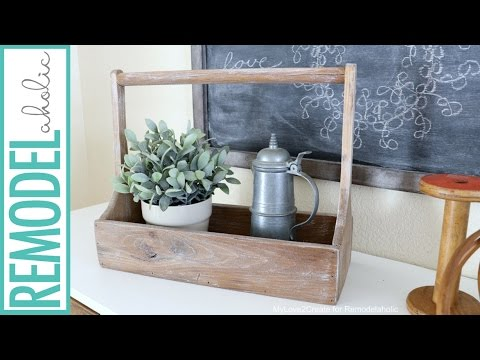 How to Build a Simple DIY Antique Wood Crate