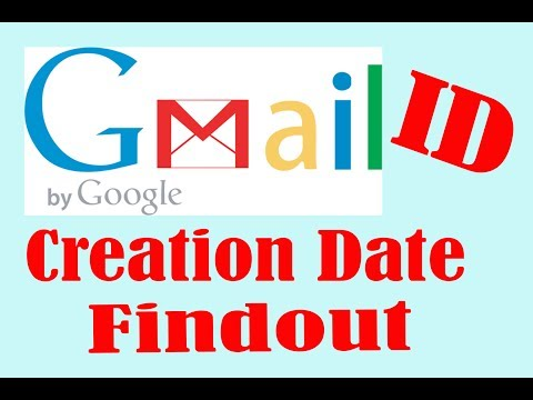 How to find out gmail Account creation date?