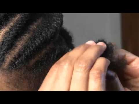 How to flat twist my 4C hair