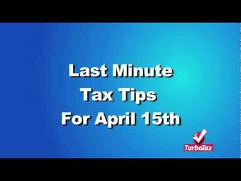 Last-Minute Tax Filing Tips