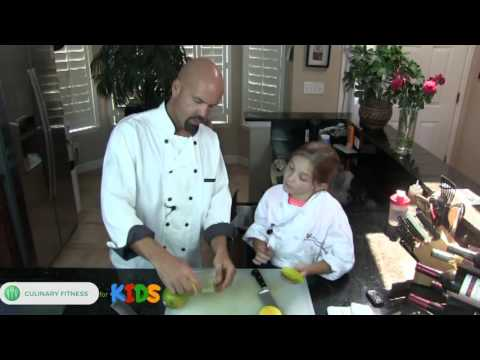 Cutting Mangoes -  Knife Skills 101 with Chef Dennis Berry | Healthy Cooking Videos