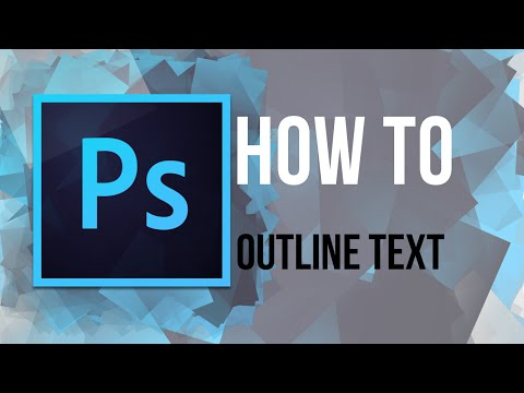 PHOTOSHOP: How to Outline Text