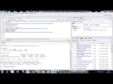 How to add Linear Trend in linear regression in R Studio