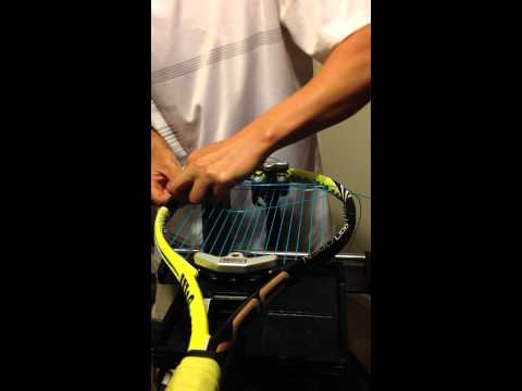 Why you should string the crosses of a tennis racquet one ahead
