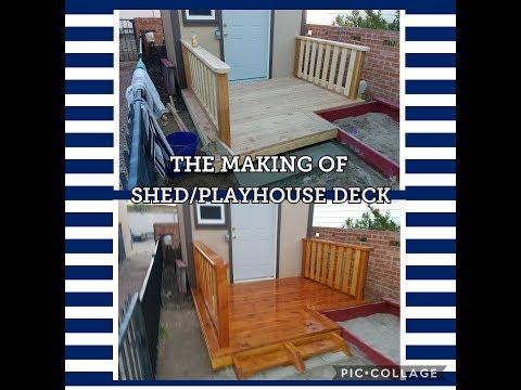 BUILDING A DECK FOR A SHED OR PLAYHOUSE!! STEP BY STEP!