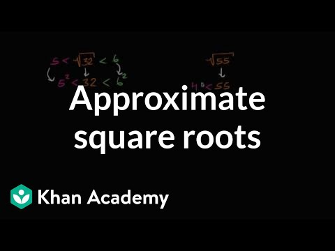 How to approximate square roots | Numbers and operations | 8th grade | Khan Academy