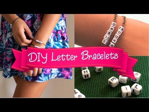 DIY Letter Bracelets