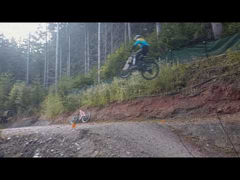 4inch bike, 10 year old and a BIG jump in Queenston NZ