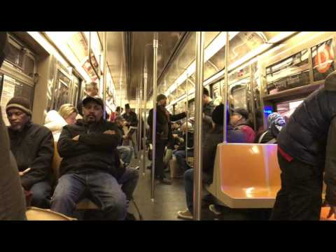 NYC Subway HD 60fps: Riding R68 D Train via A Line from 42nd Street to Jay Street (2/11/17)