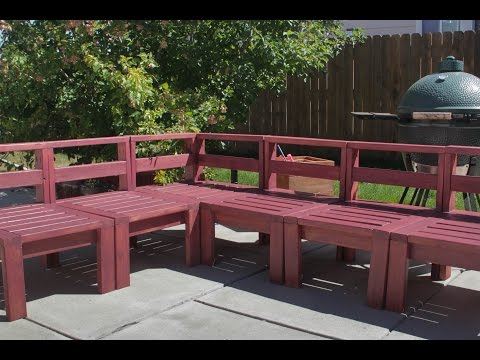 Outdoor Sectional with 2x4s (How to Build)