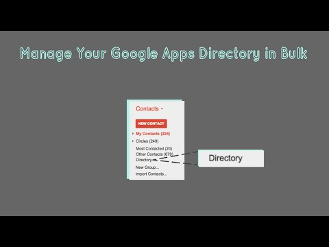 Manage Your Google Apps Directory in Bulk