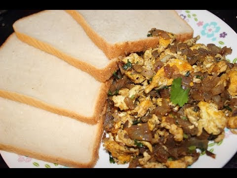 Spicy Scrambled Egg with Bread - Simple Dinner Recipe!!!