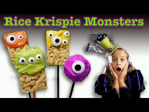 How to make Rice Krispie Treat Monsters